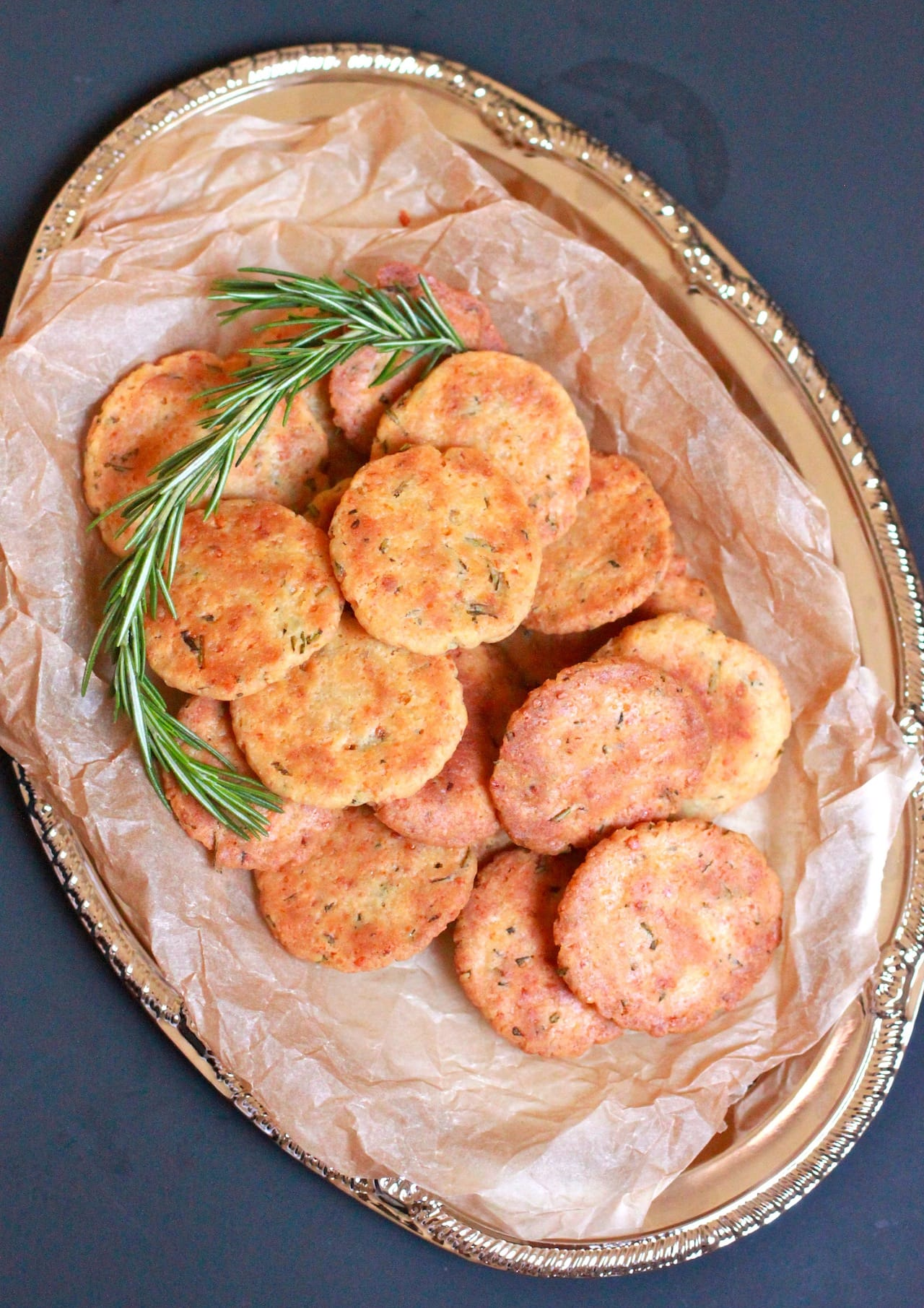 Rosemary and Parmesan Savory Cookies | Playful Cooking