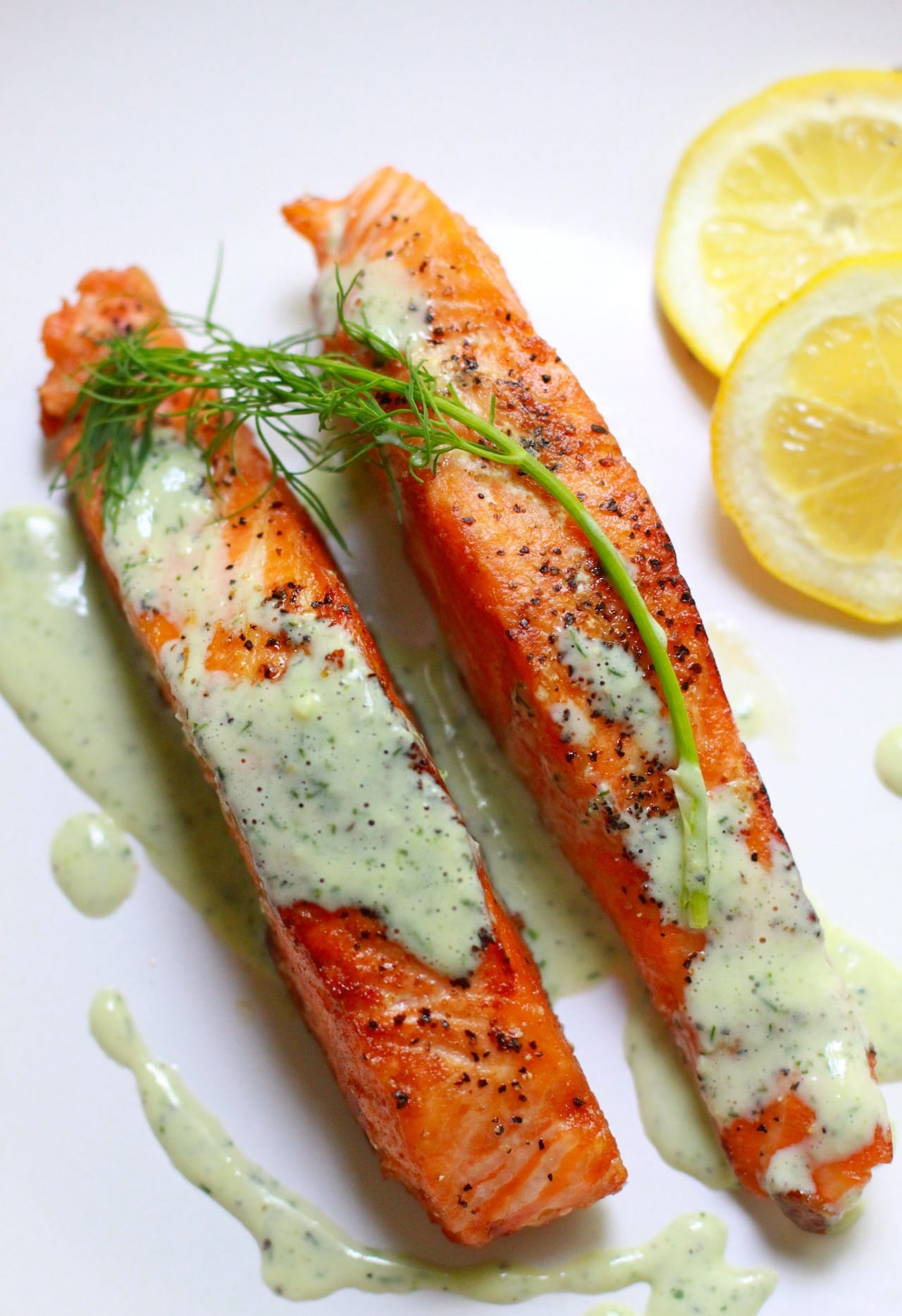 Salmon with creamy dill sauce playful cooking for Dill sauce for fish