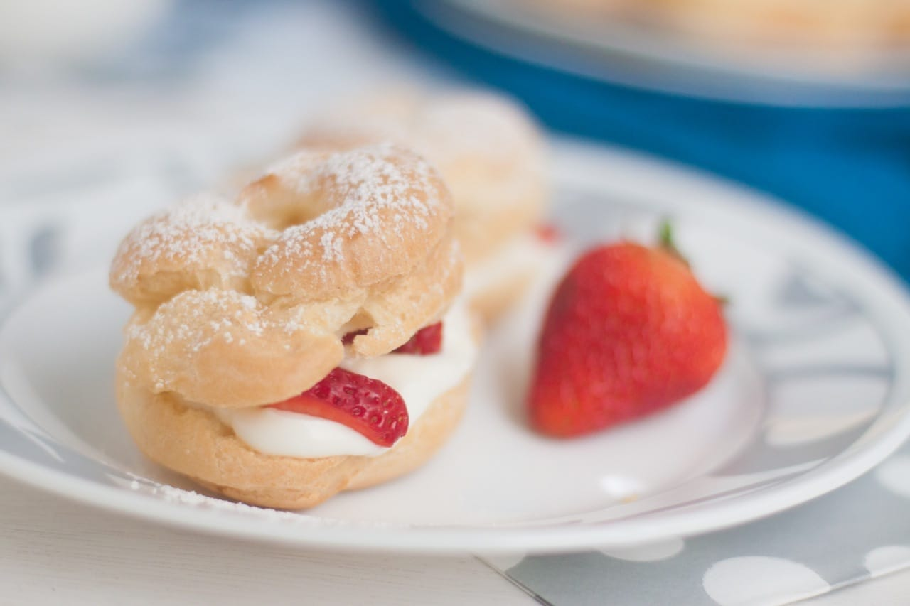 Cream Puffs filled with Strawberry and Mascarpone – Guest Post for ...