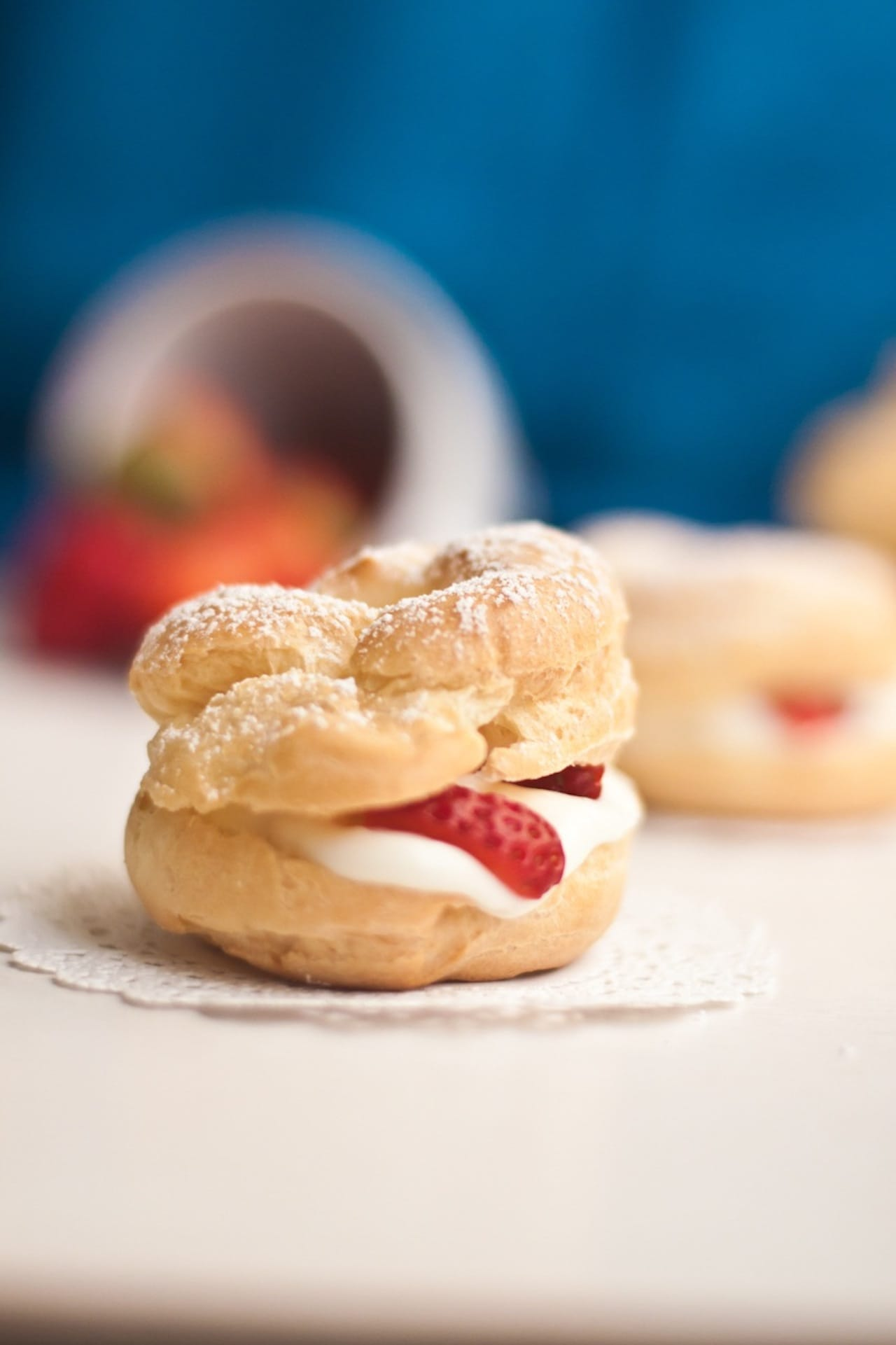 Cream Puffs filled with Strawberry and Mascarpone – Guest Post for Ananda @ A Pinch of Love