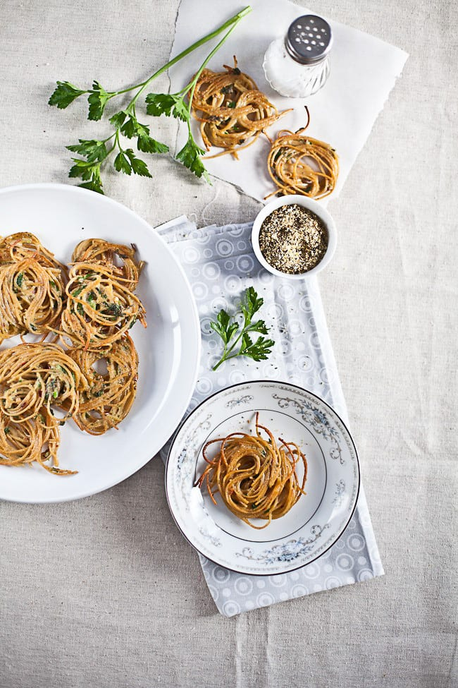 Spaghetti Fritters : Sunshine and Smile
