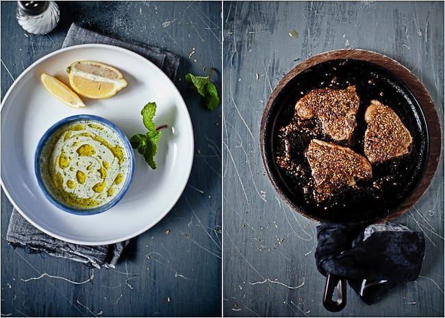 Lamb Chops with Yogurt Mint Sauce by Sunshine and Smile