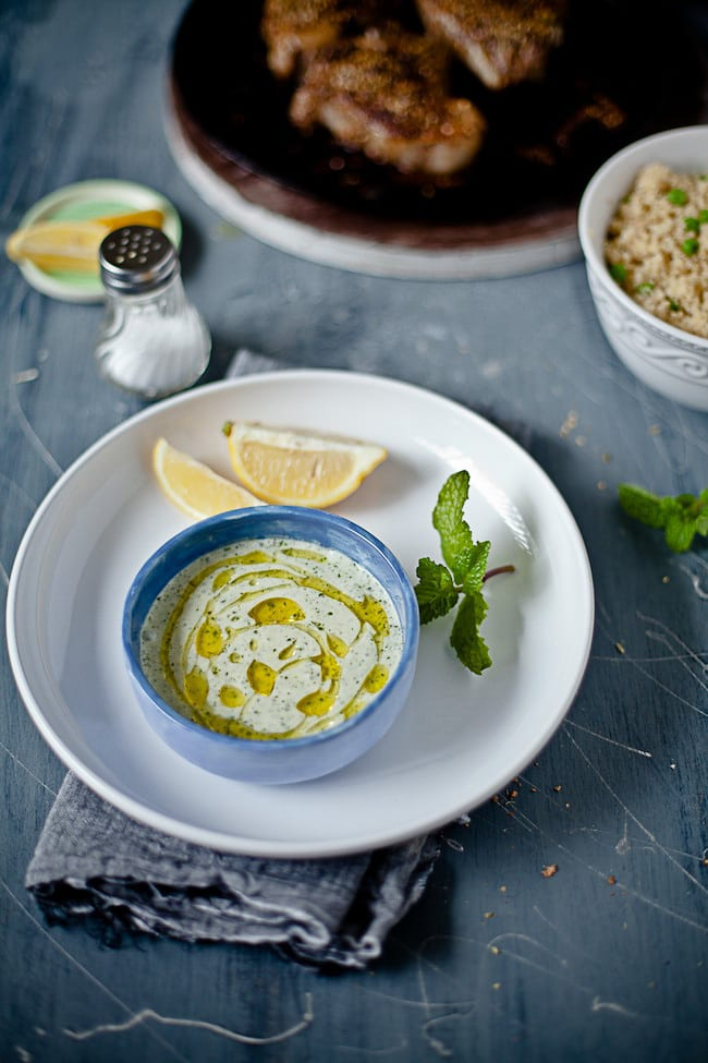 Yogurt Mint Sauce by Sunshine and Smile