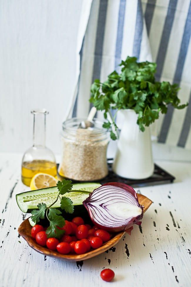 veggies for Quinoa Tabouleh | Sunshine and Smile #tabouleh #salad #quinoa