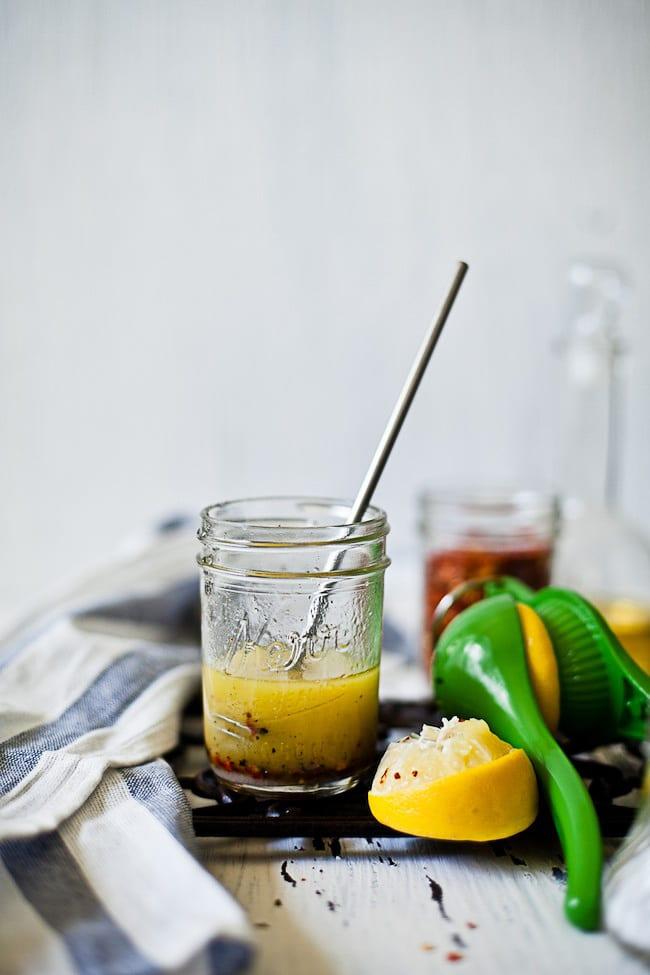 lemon vinaigrette | Sunshine and Smile #salad #dressing #lemon