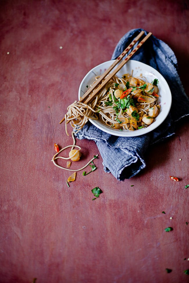 Soba Noodles with Scallop in Wine Sauce | Sunshine and Smile