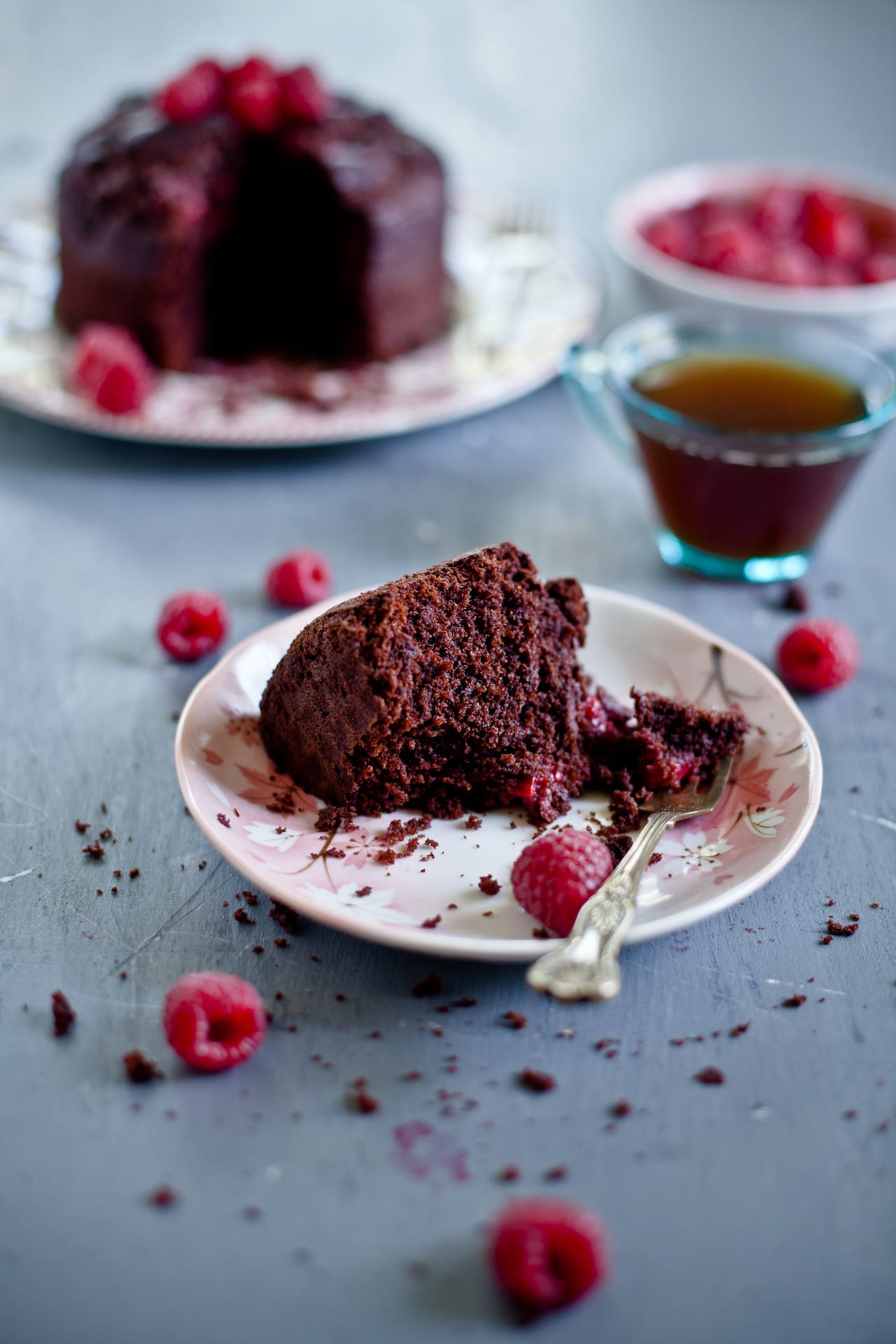 Raspberry Ricotta Chocolate Cake | Playful Cooking