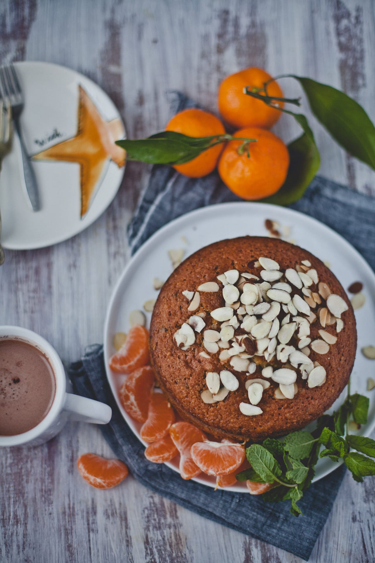 Orange Mint Almond Cake | Playful Cooking
