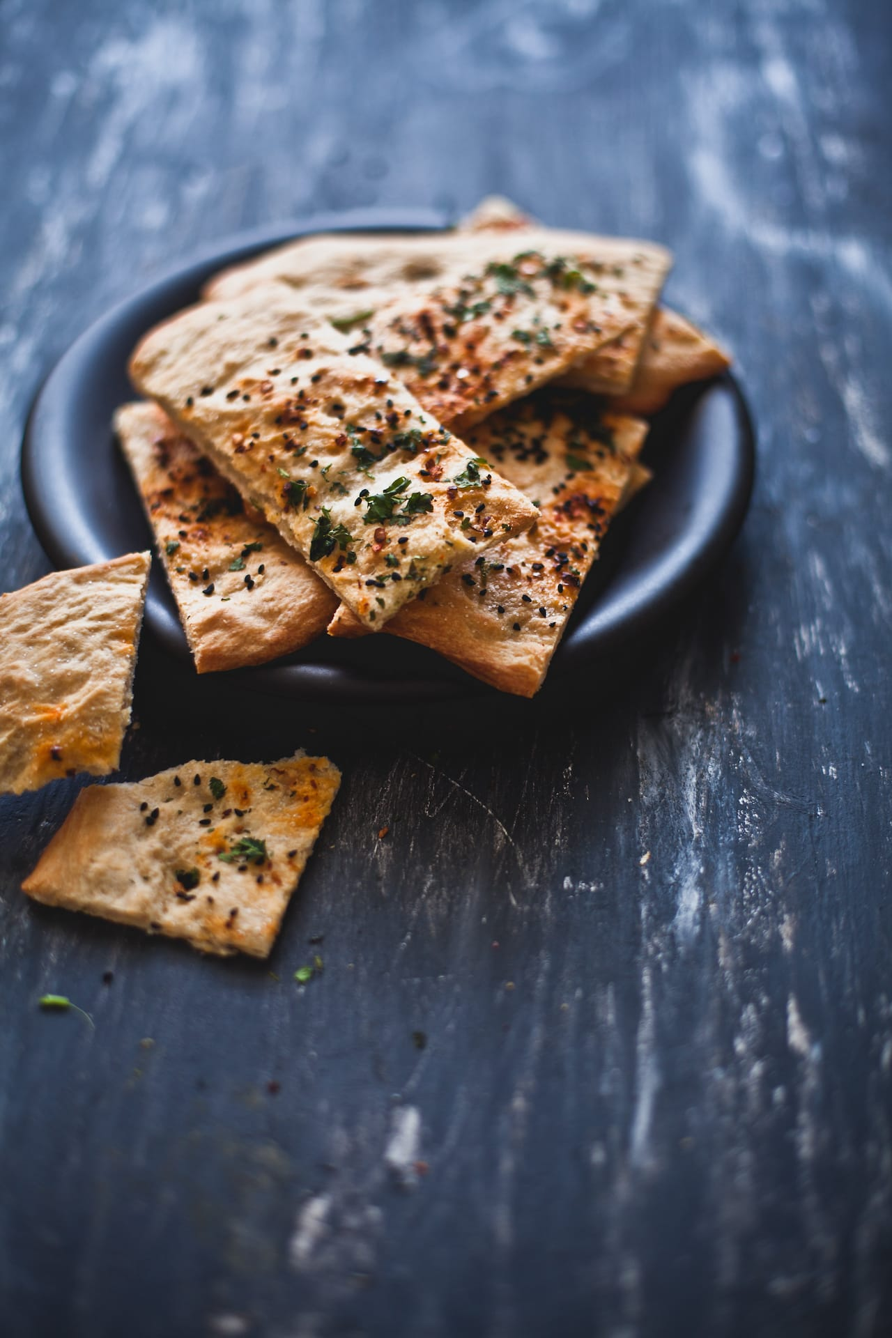 Nigella Garlic Flat Bread | Playful Cooking