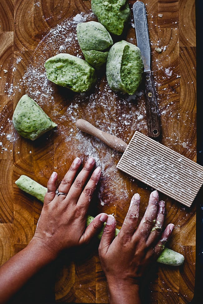 Steps to make Arugula Gnocchi | Playful Cooking