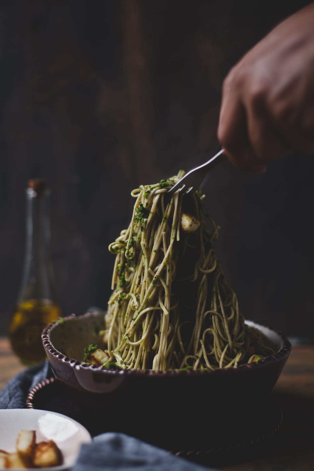 Soba Noodle With Chimichurri And Paneer | Playful Cooking