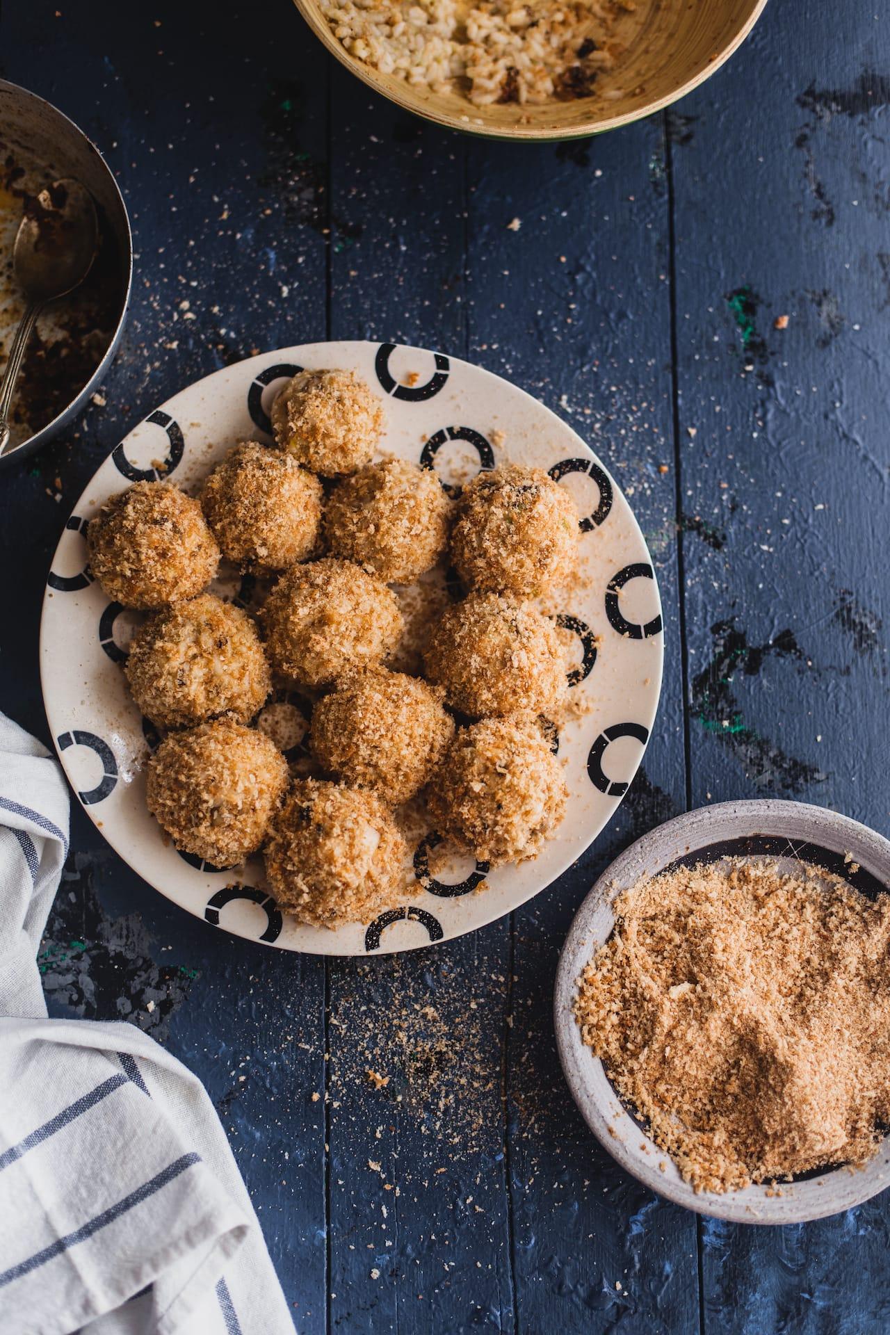 Mushroom Arancini | Playful Cooking