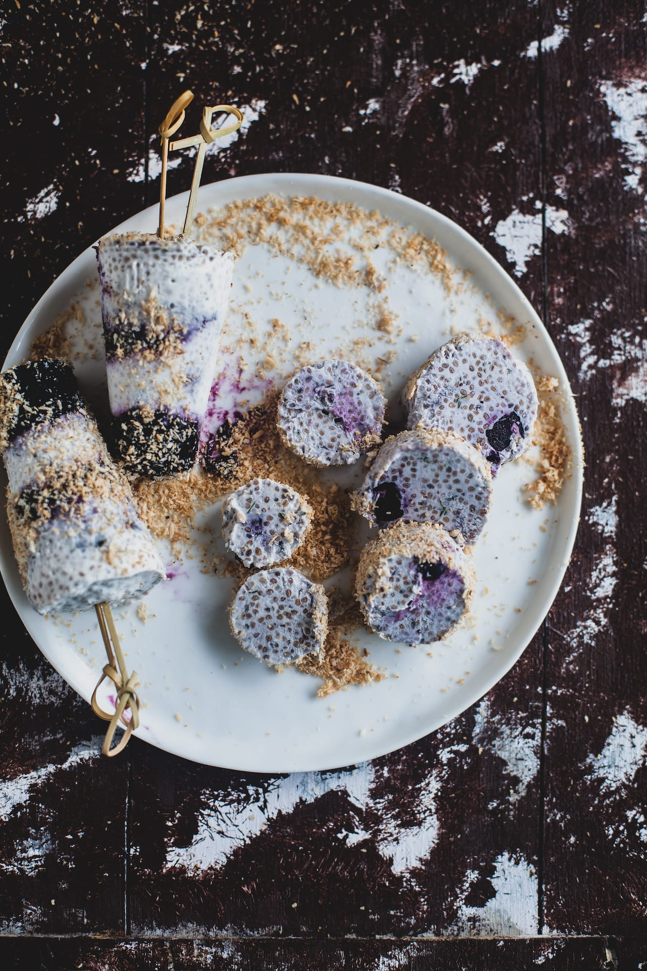 Coconut Blueberry Chia Kulfi | Playful Cooking