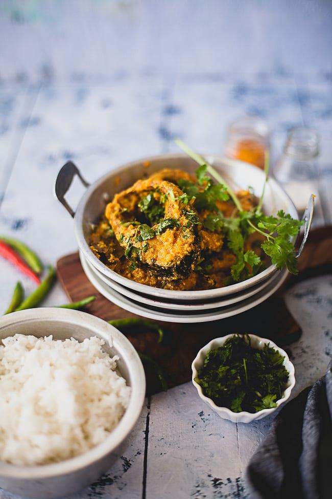 Doi Mach (Fish in Yogurt Gravy)   Playful Cooking