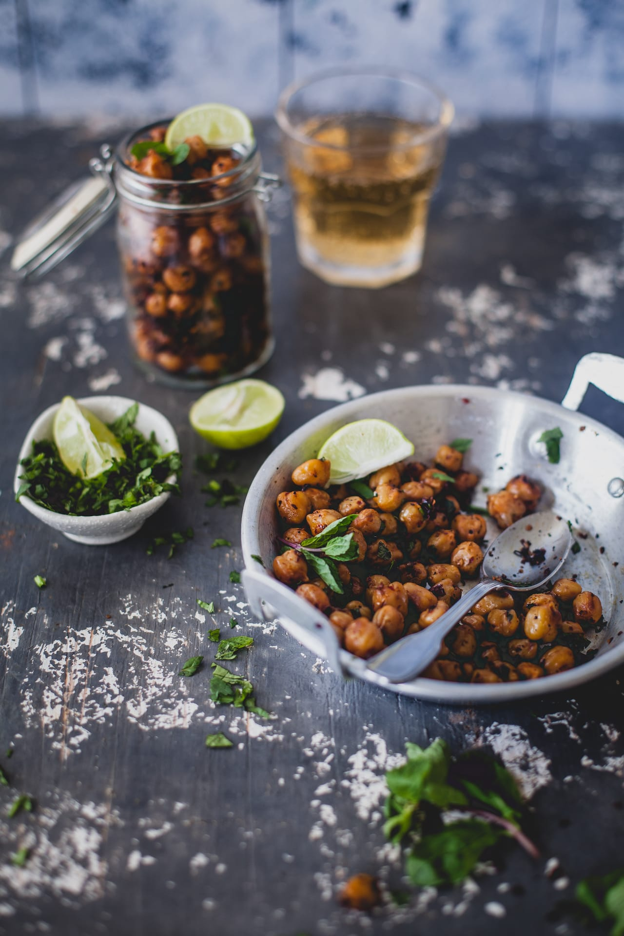 Garlic Chili Roasted Chickpeas | Playful Cooking