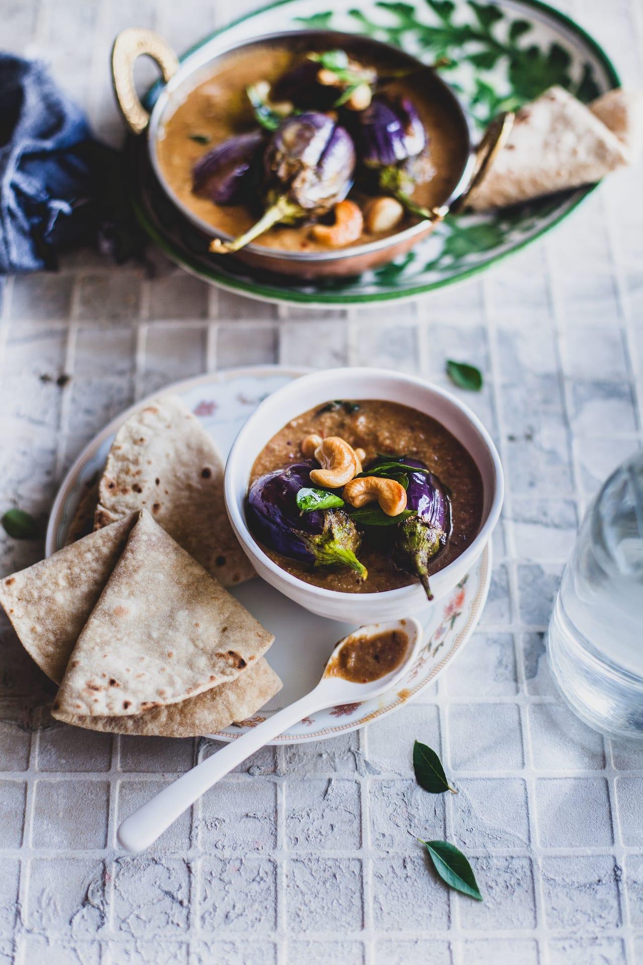 Baingan Ka Salan (Baby Eggplant In Coconut Cashew Gravy) | Playful Cooking