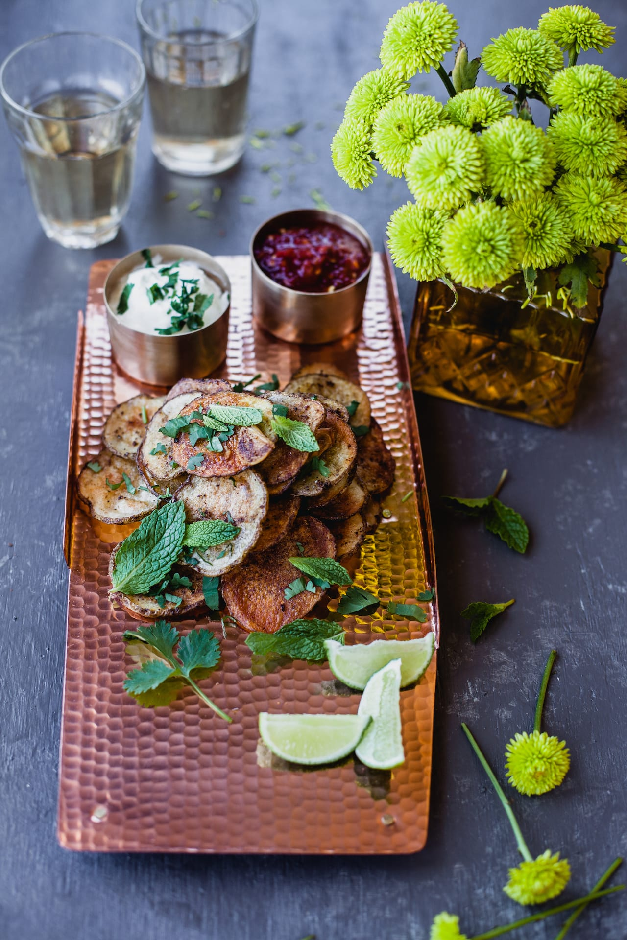 Garam Masala Baked Potato Chips | Playful Cooking #chips #baked #potato #garammasala #indian #spiced