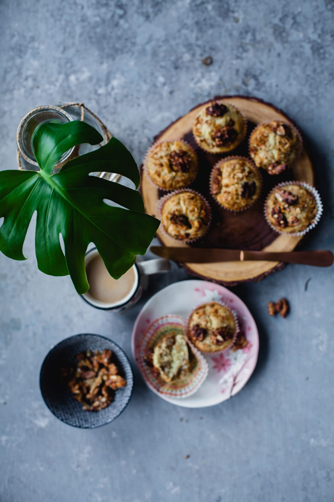 Banana Granola Toasted Walnut Breakfast Muffins | Playful Cooking
