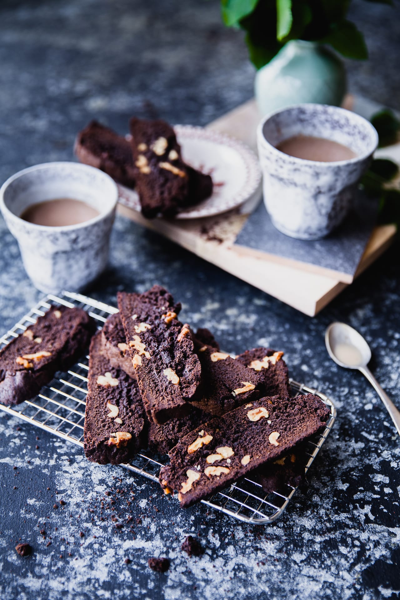 Chocolate Walnut Biscotti | Playful Cooking
