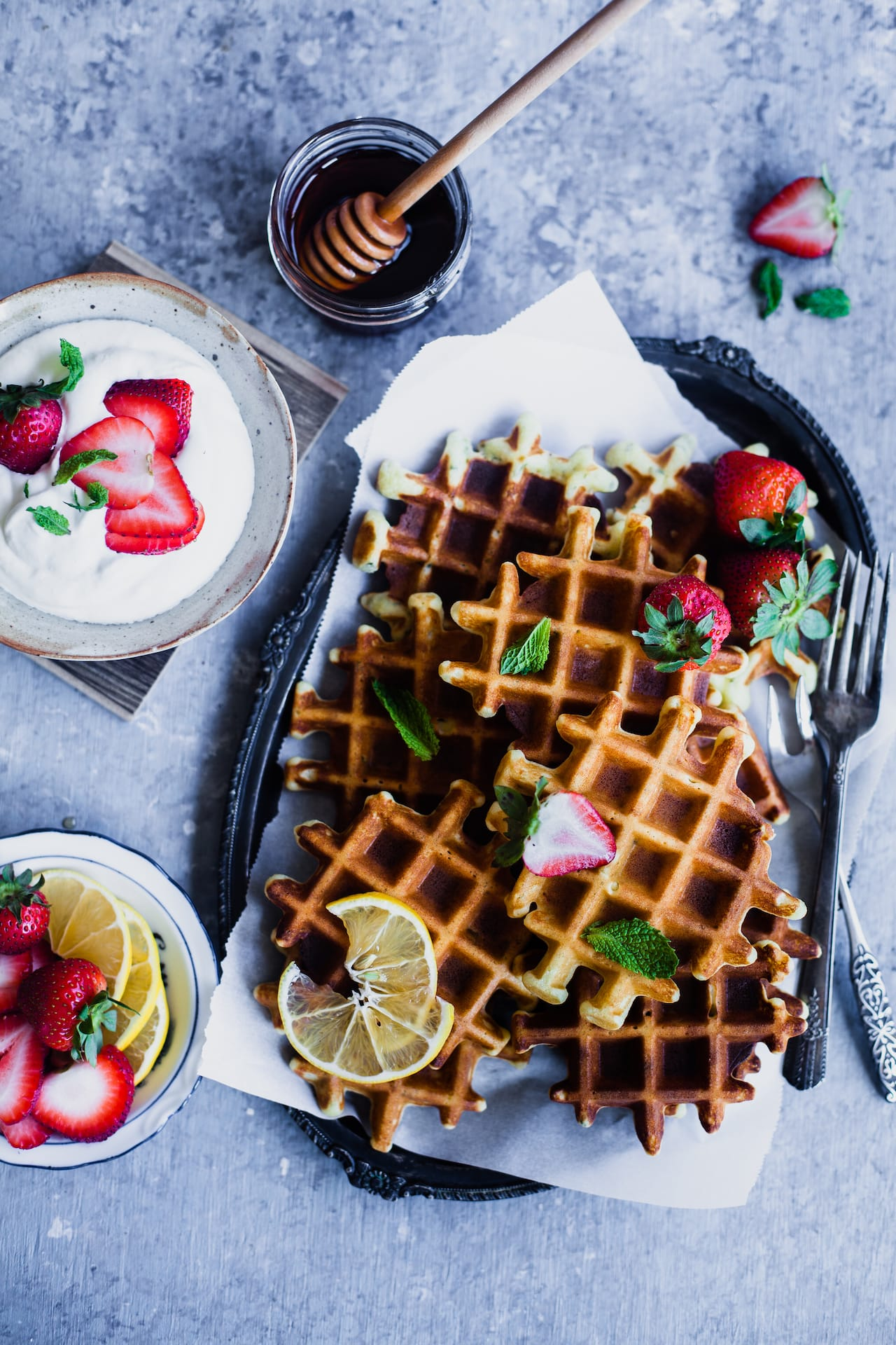 Almond Lemon Waffles | Playful Cooking
