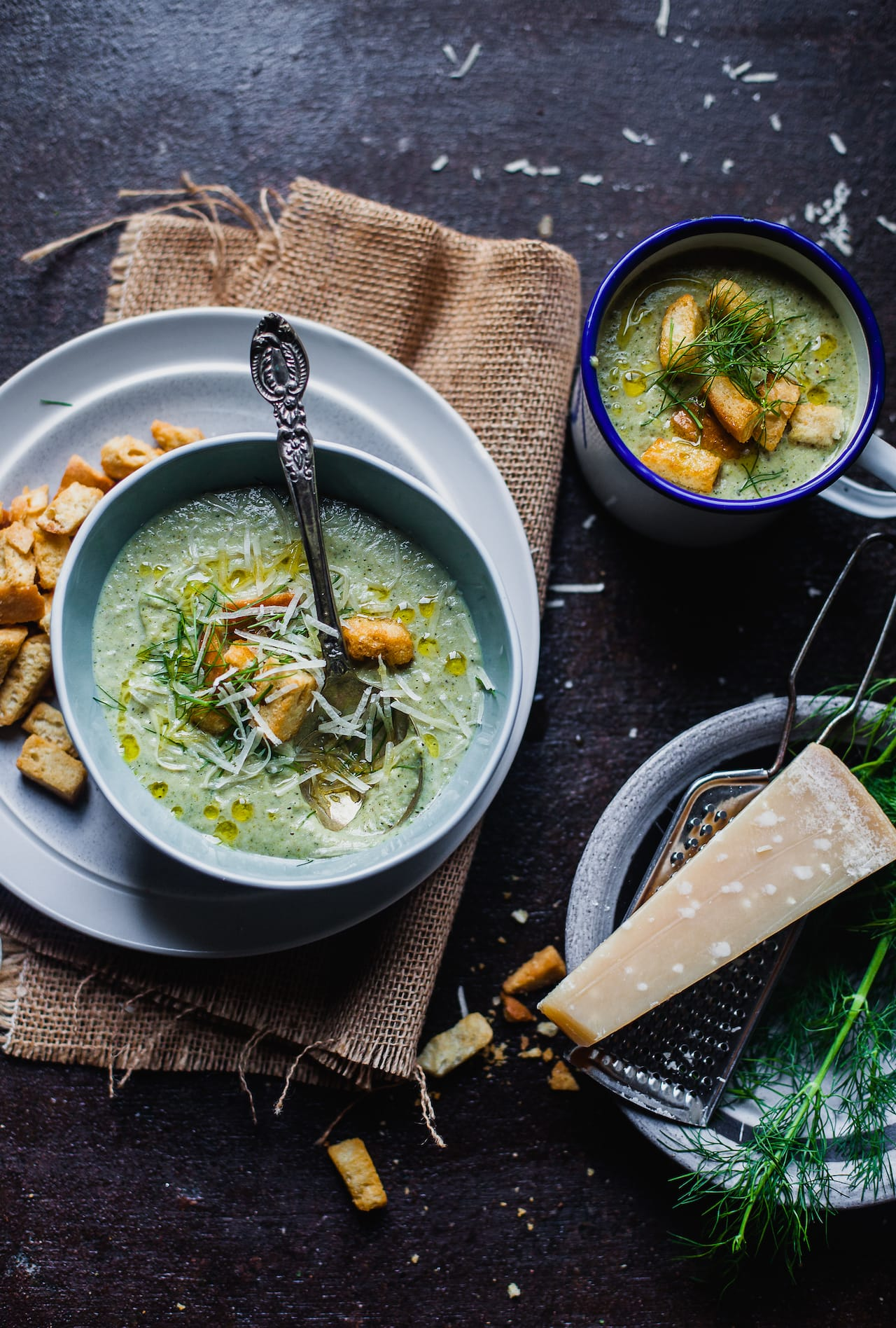 Roasted Broccoli and Fennel Soup | Playful Cooking