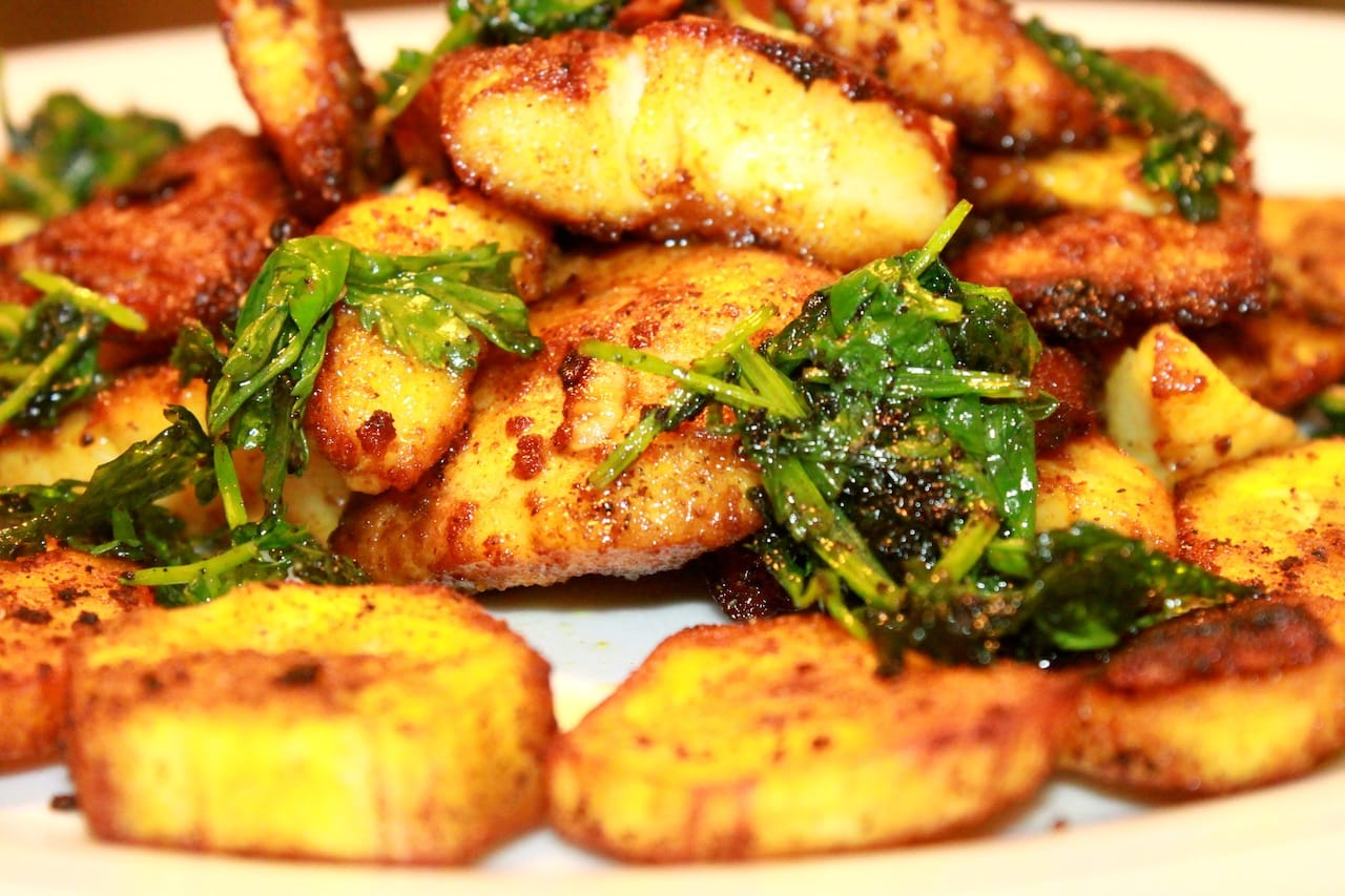 Fish Fried with Crispy Plantain 1