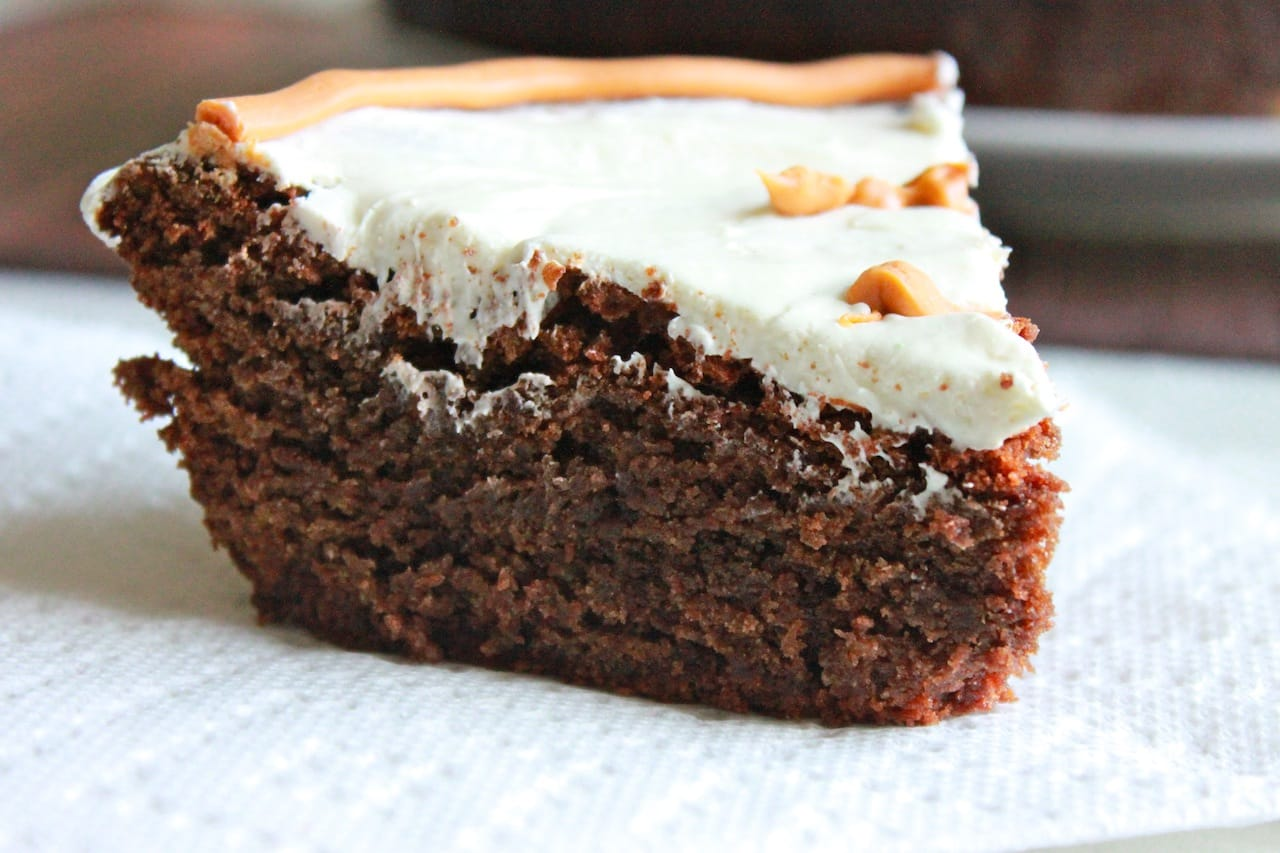 Bitter Sweet Chocolate Cake with Pecan Nuts 1