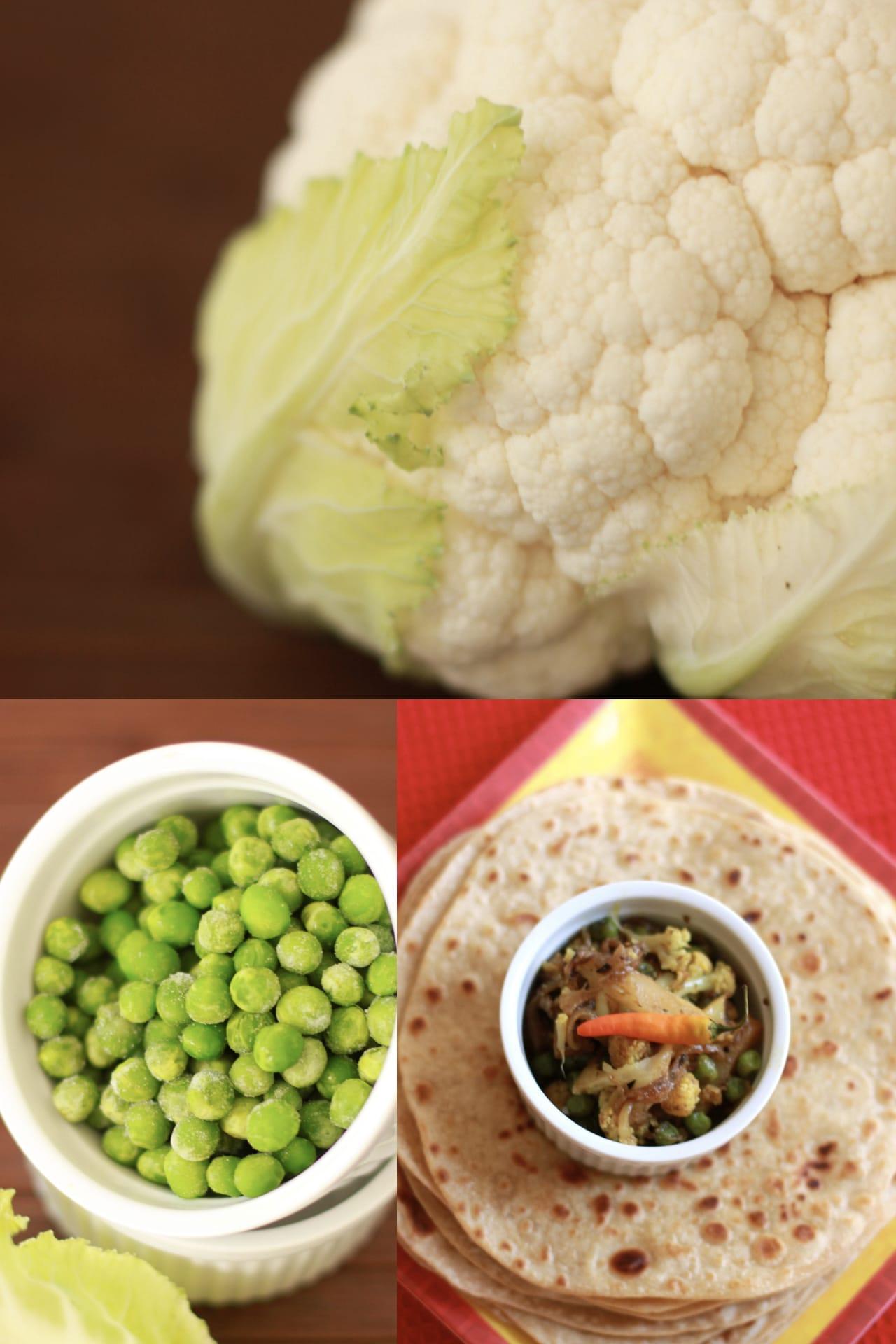 Gobi Matar/Cauliflower cooked with Peas 1