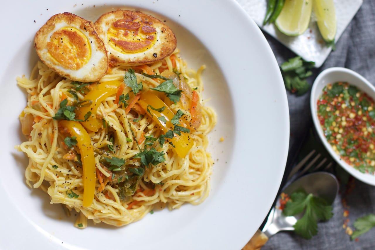 egg hakka noodles 2 621