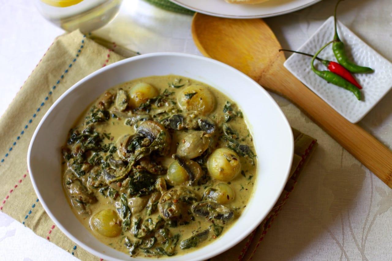 spinach mushroom 4