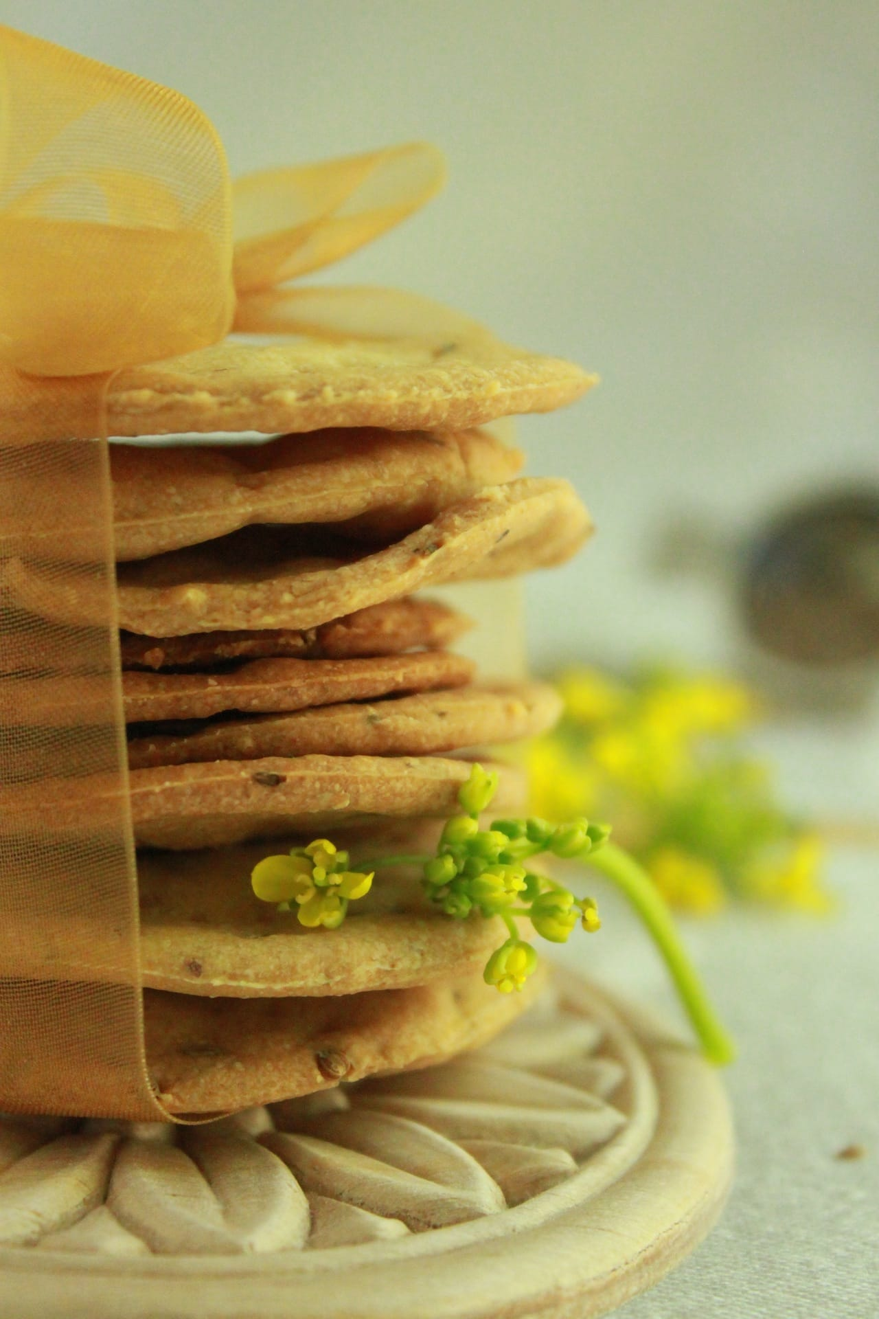 Whole Wheat Carom Seed Crackers 1