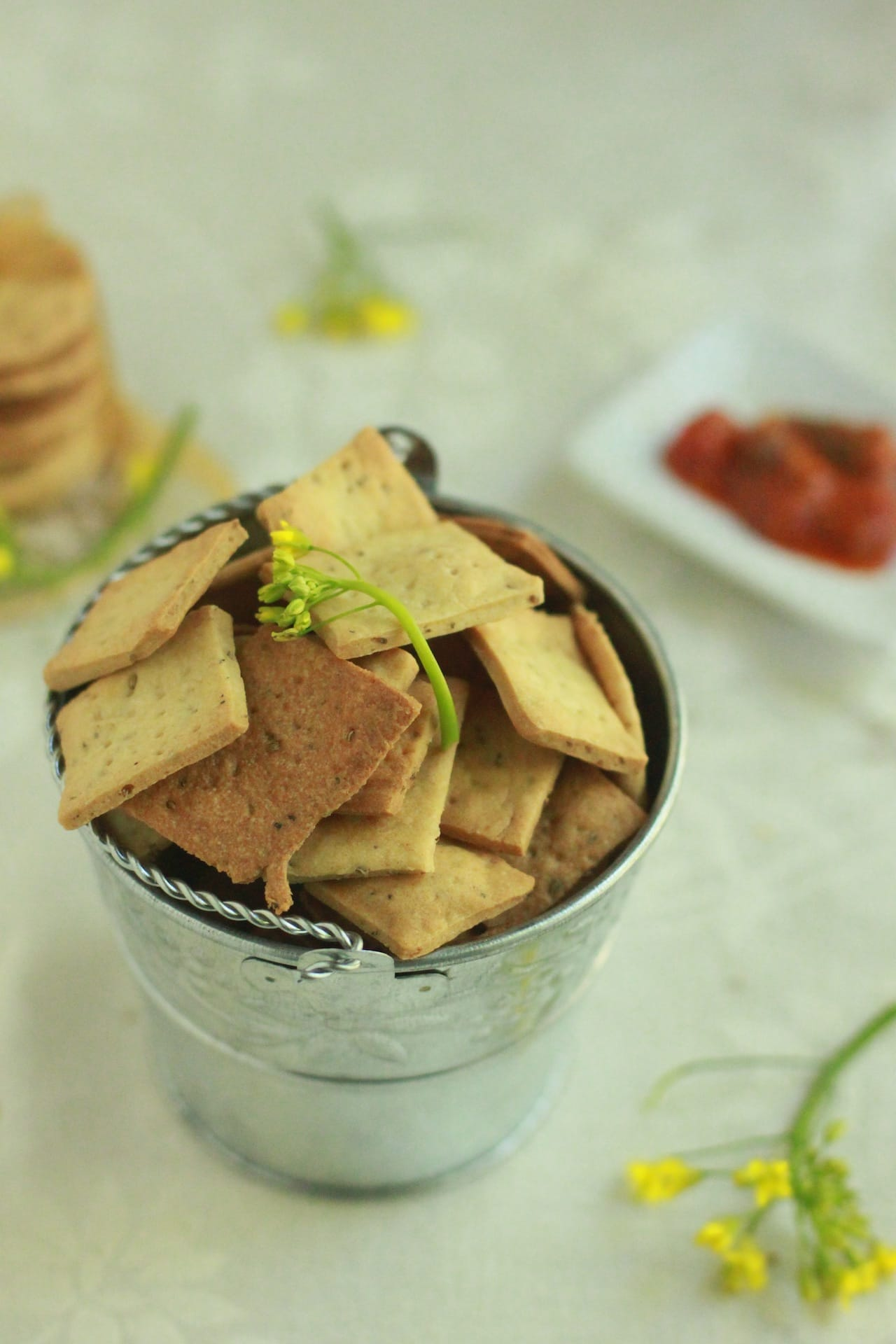 Whole Wheat Carom Seed Crackers 2
