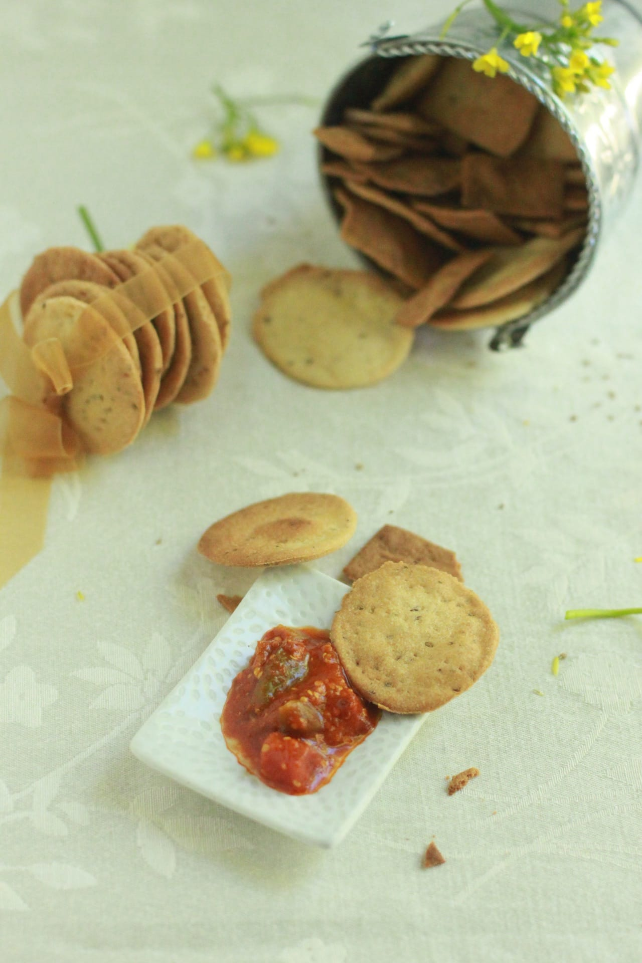 Whole Wheat Carom Seed Crackers 4