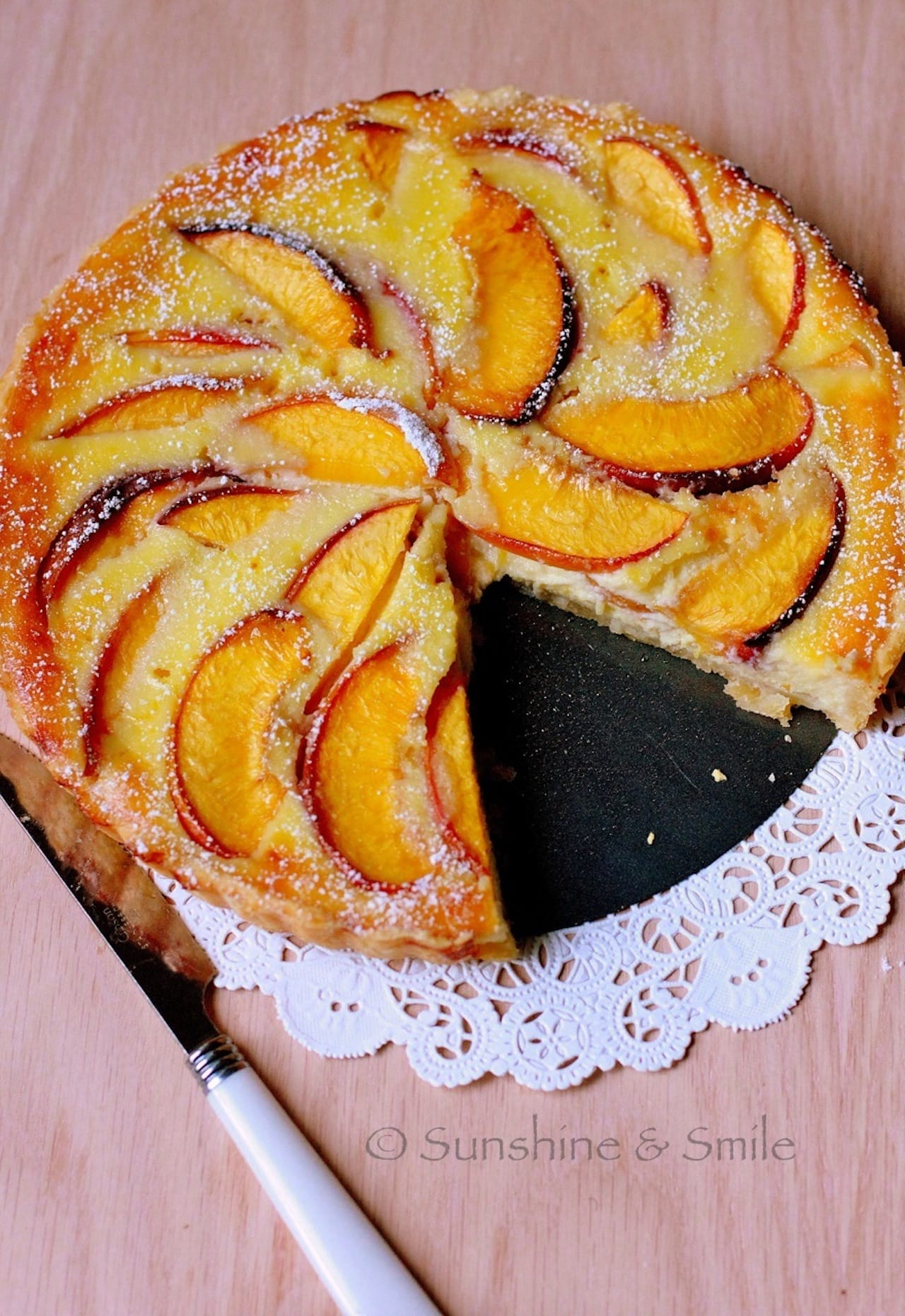 Flaky Tart with Peach and Ricotta 1