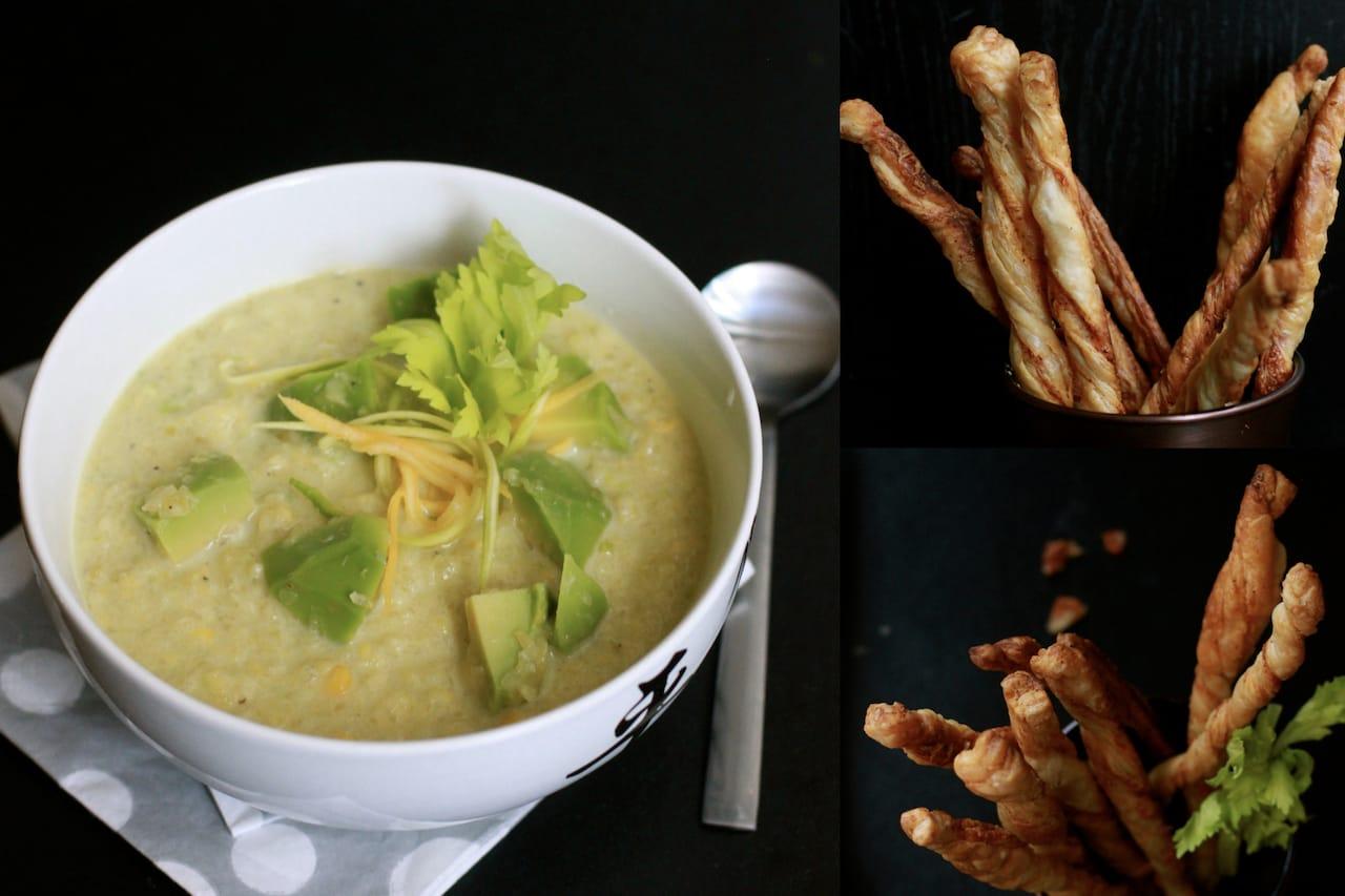 Zucchini & Avocado Cold Soup with Crispy Sticks 4
