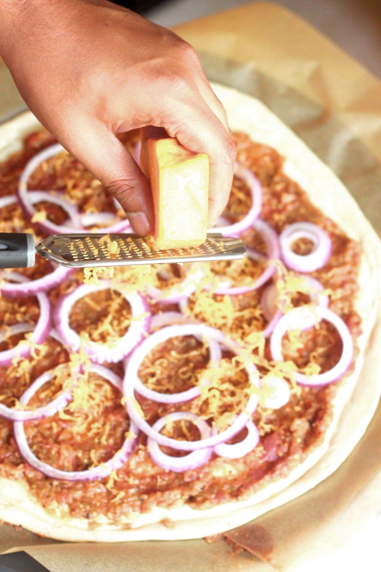 Baigan Bharta (Roasted Mashed Eggplant) Pizza 5