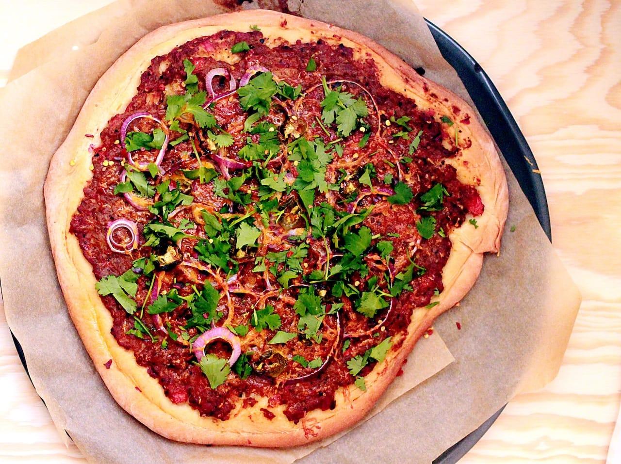 baigan bharta pizza 2