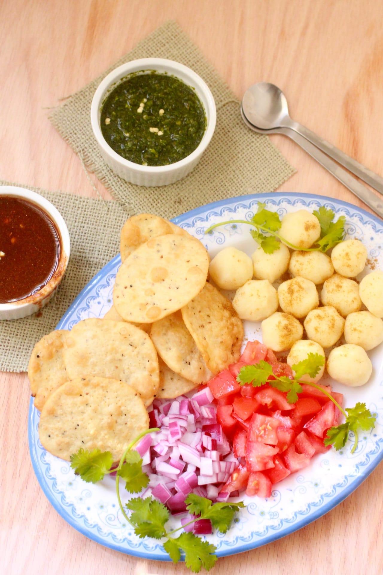 Papri Chaat - Indian Street Food treat - Guest Post for Shulie @ Food Wanderings 1
