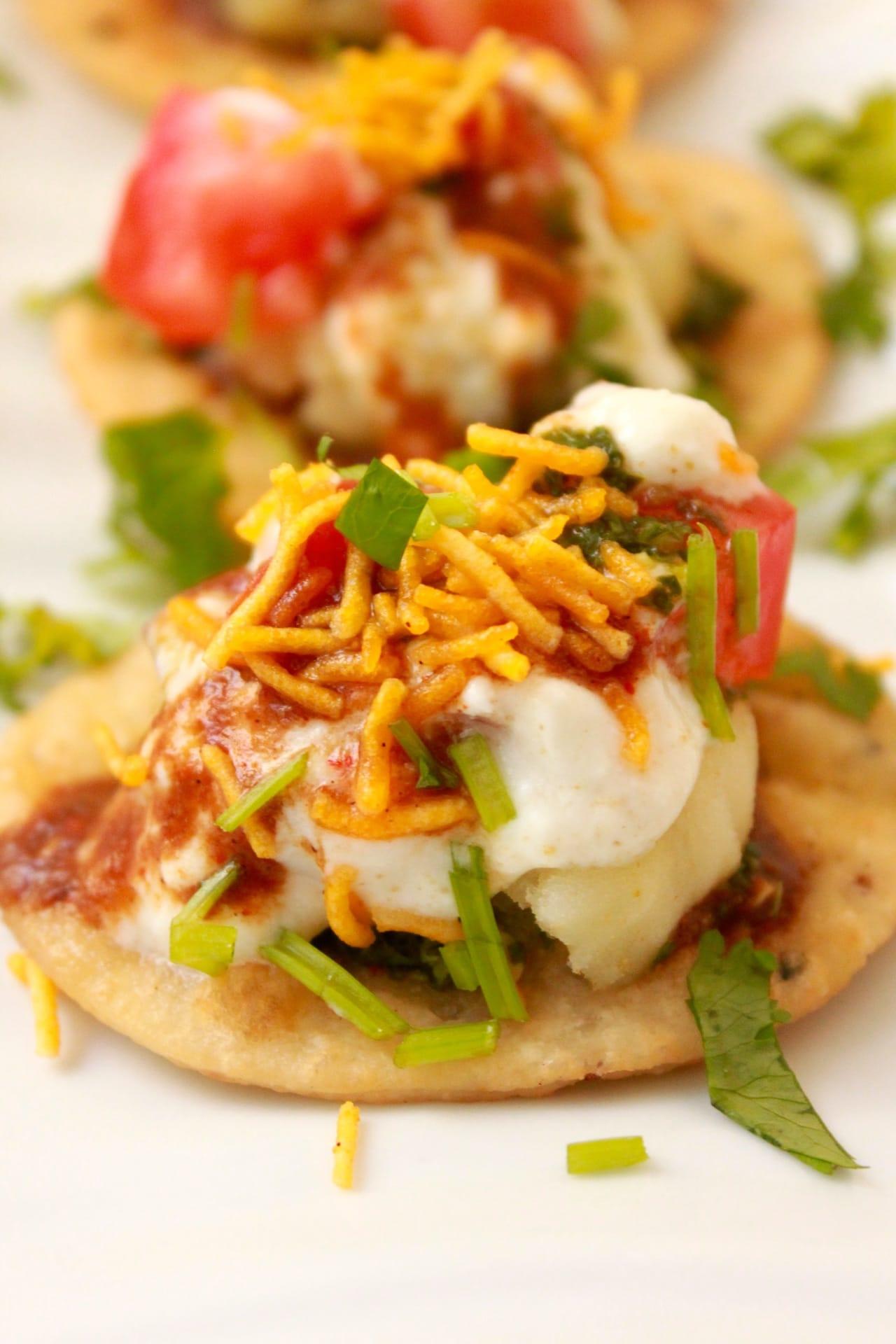Papri Chaat - Indian Street Food treat - Guest Post for Shulie @ Food Wanderings 3
