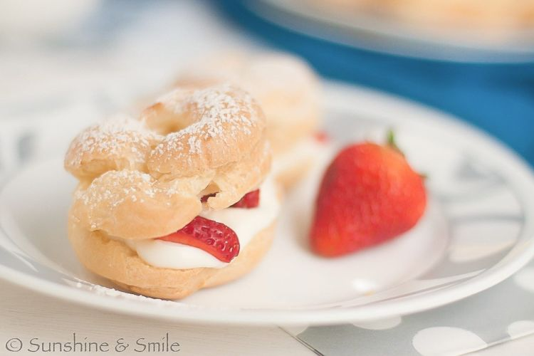 cream puff strawberry 5