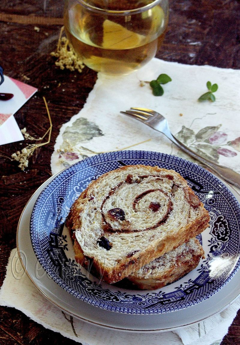 Spiced Cranberry and Nut Swirl Bread - Guest Post by Soma @ eCurry 12