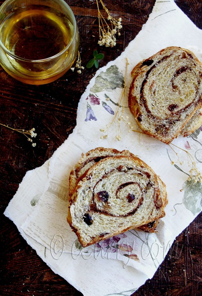 Spiced Cranberry and Nut Swirl Bread - Guest Post by Soma @ eCurry 7