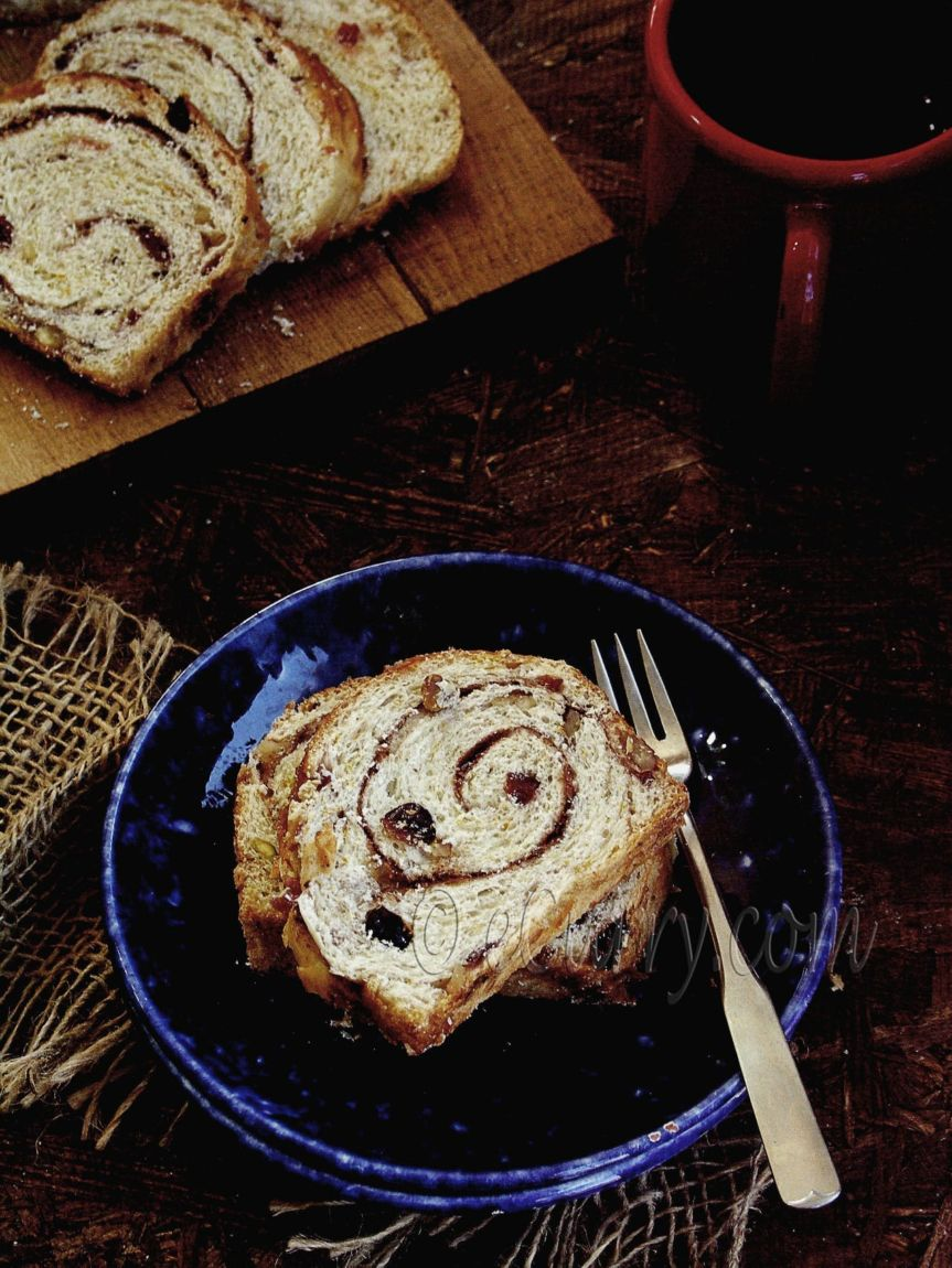 Spiced Cranberry and Nut Swirl Bread - Guest Post by Soma @ eCurry 3