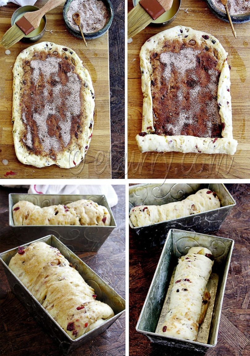 Spiced Cranberry and Nut Swirl Bread - Guest Post by Soma @ eCurry 10