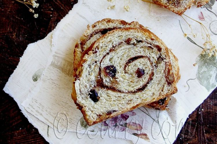 Cranberry Nut Swirl Bread featured