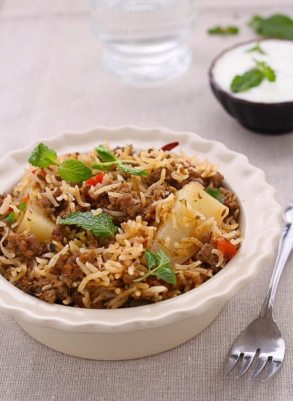 Keema Pulao - Guest Post by Tanvi @ Sinfully Spicy 5