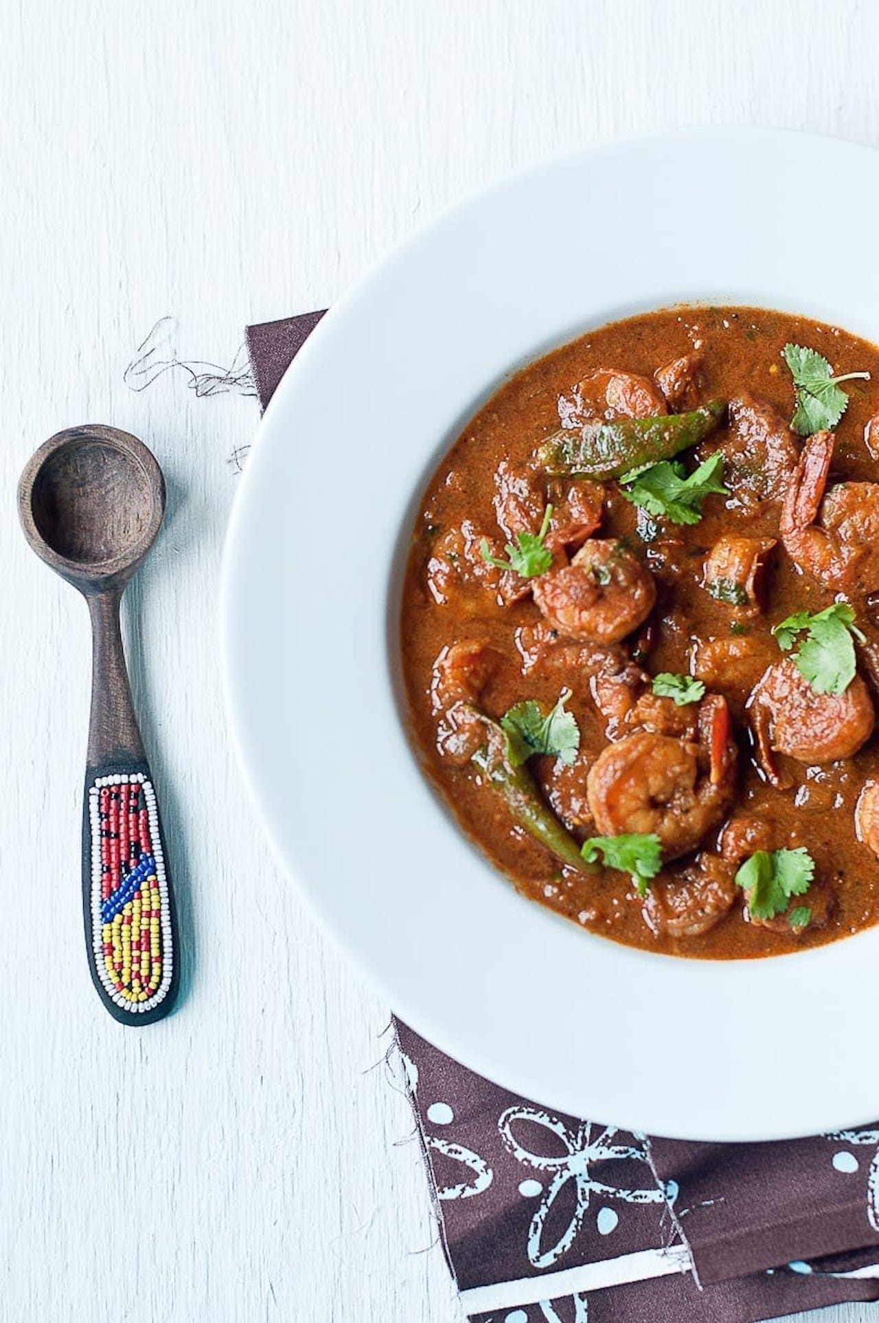 Madras Shrimp Masala - Guest Post by Radhika @ Food for 7 Stages of Life 2