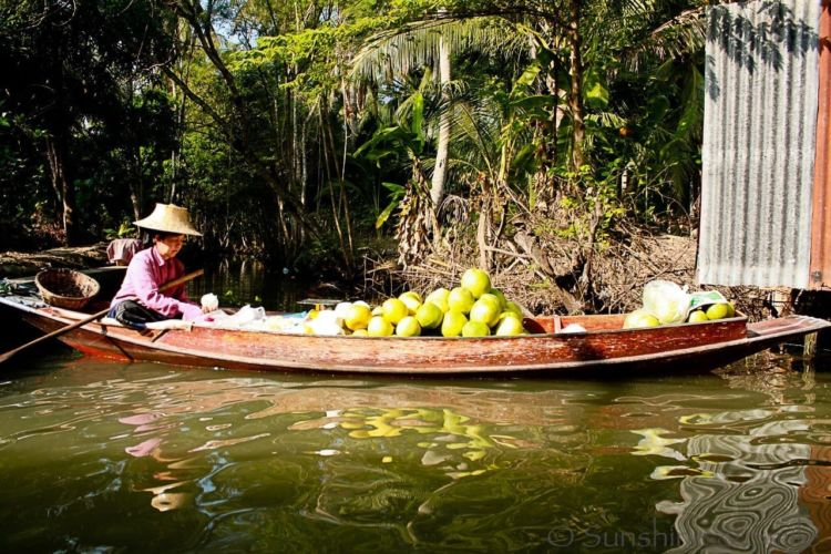 The Floating Market in Thailand 13