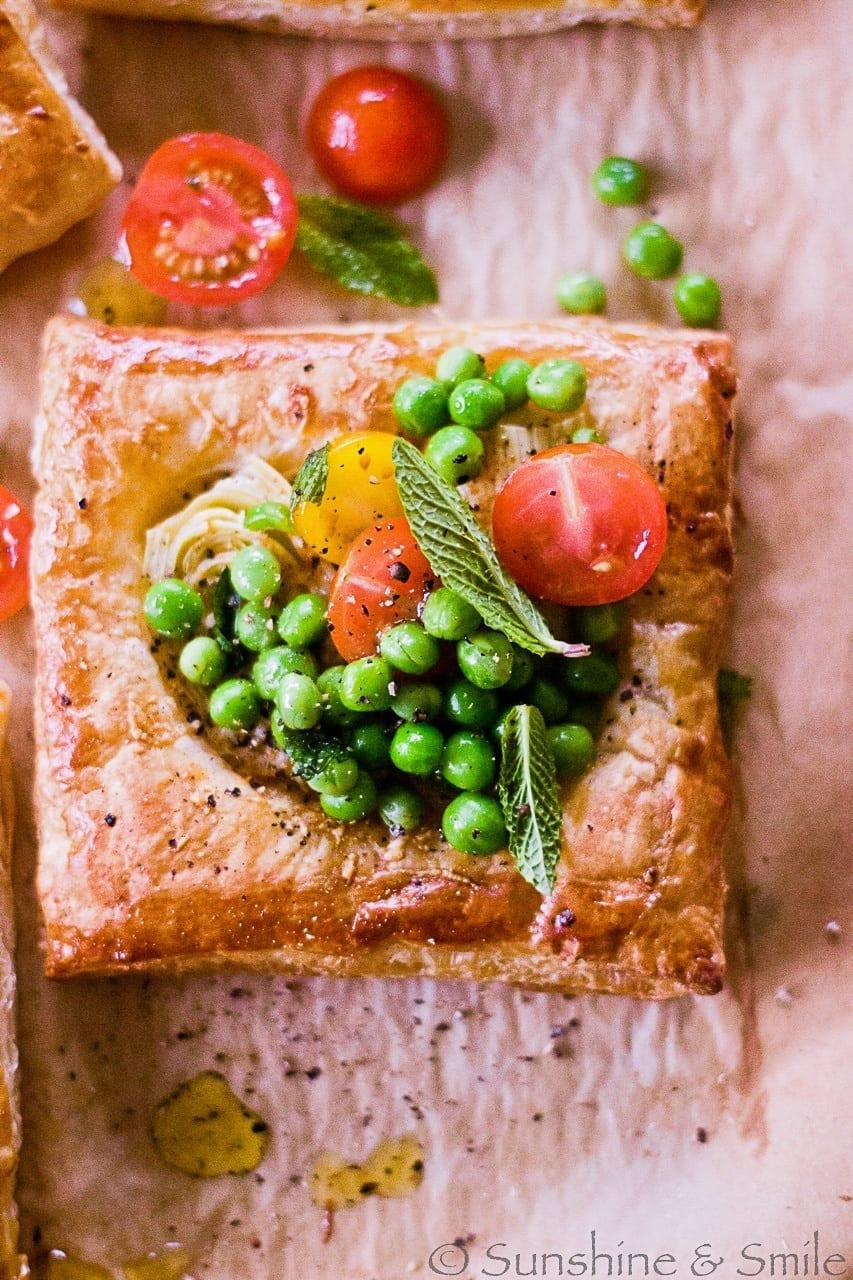 Artichoke and Tomato Salad Tarts - DHSP Challenge #7 5