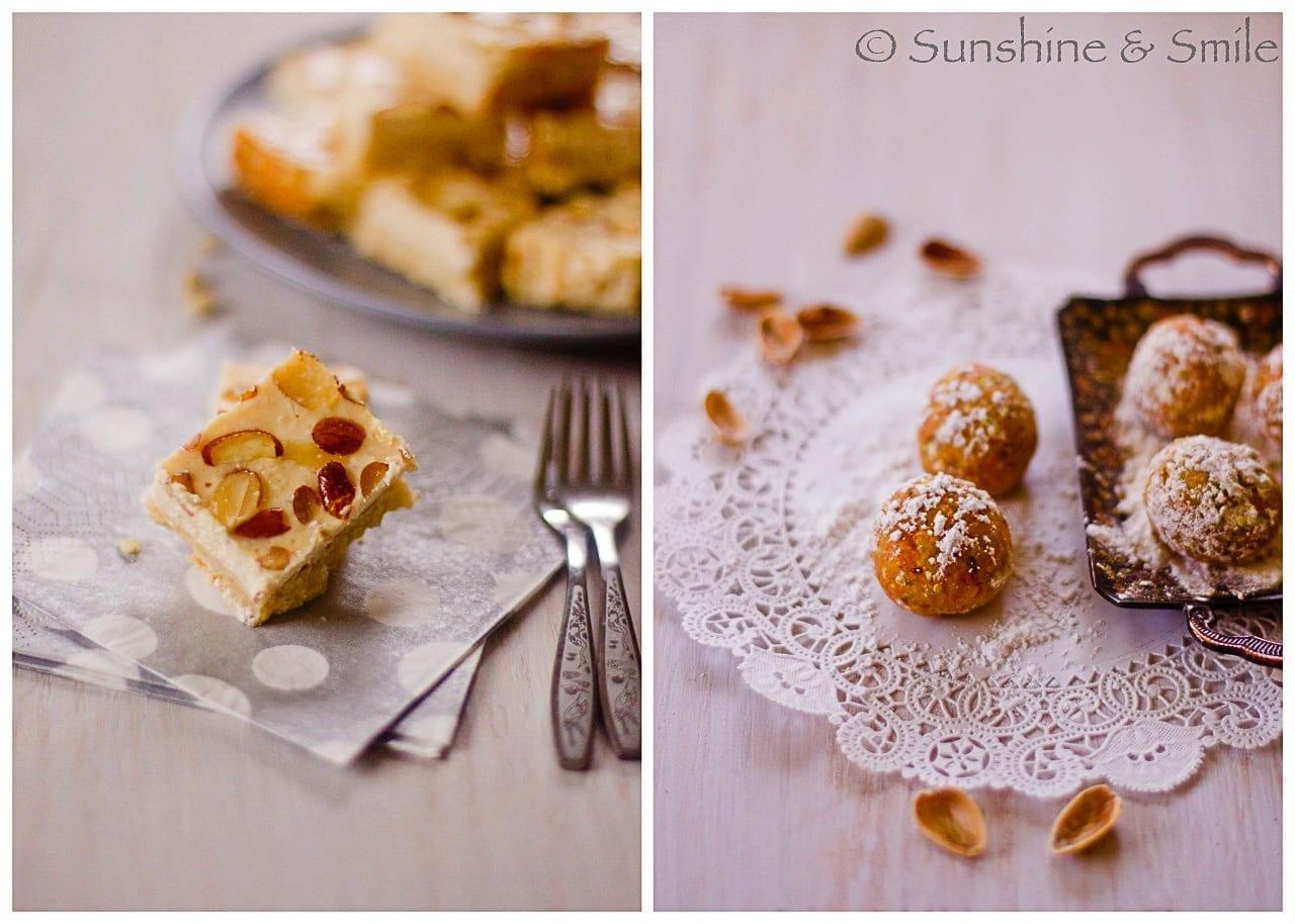 Lemon Shortbread Bars and Carrot Pistachio Truffles 1